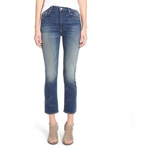 Mother Insider Crop High Rise Jeans